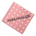 Personalised dog bandanna | Coral pink polka dots