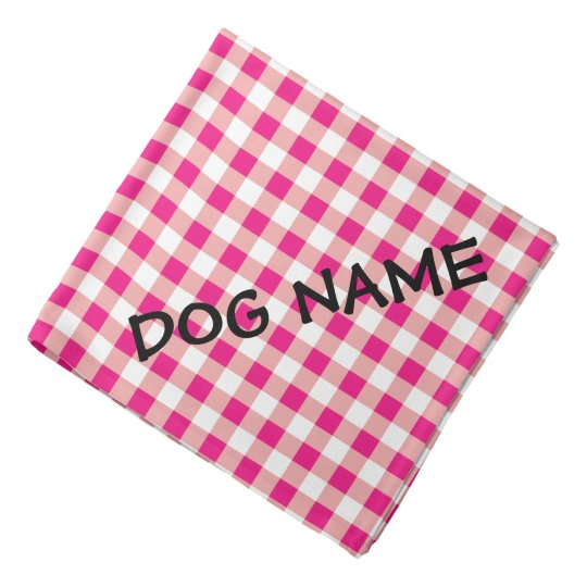Personalised dog bandanna | Red and white gingham