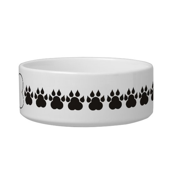 Personalised Dog Bone Paw Print Pet Bowl