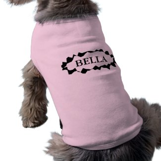 Personalised dog clothing with custom female name