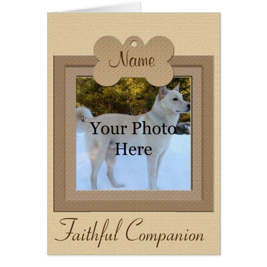 Personalised Dog or Cat Beige Memorial Card