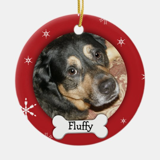 Personalised Dog/Pet Photo Holiday Christmas Ornament