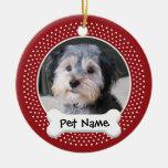 Personalised Dog Photo Frame - SINGLE-SIDED Christmas Ornaments