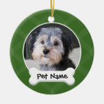 Personalised Dog Photo Frame - SINGLE-SIDED Christmas Tree Ornament