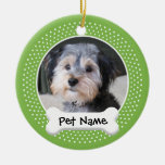 Personalised Dog Photo Frame - SINGLE-SIDED Christmas Tree Ornaments