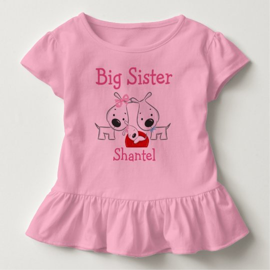 Personalised Dogs Big Sister Toddler T-Shirt