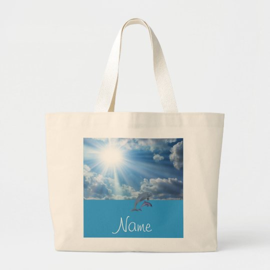 Personalised Dolphin Beach Bag