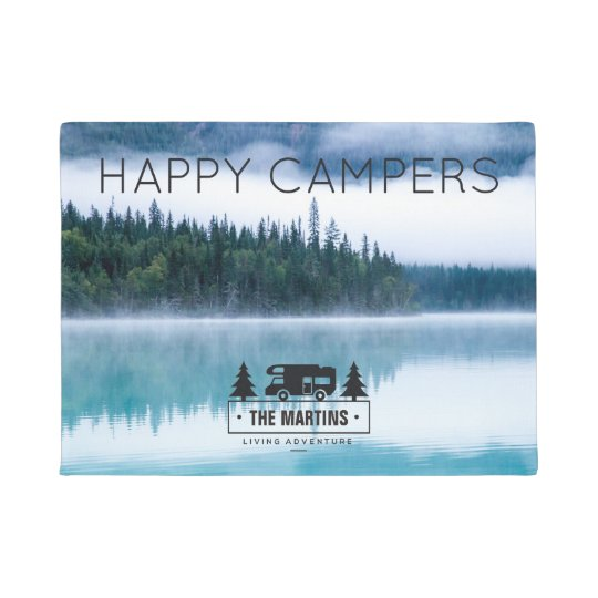 Personalised Doormat Nature | Happy Campers Lake