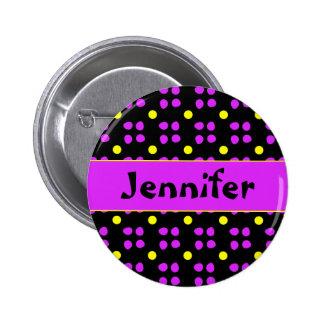 Personalised dotting pattern 6 cm round badge