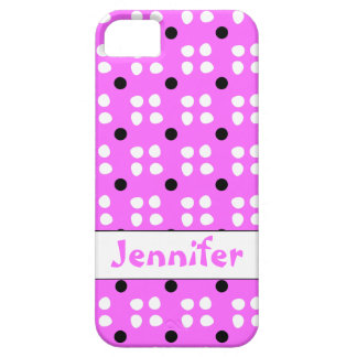 Personalised dotting pattern iPhone 5/5S case