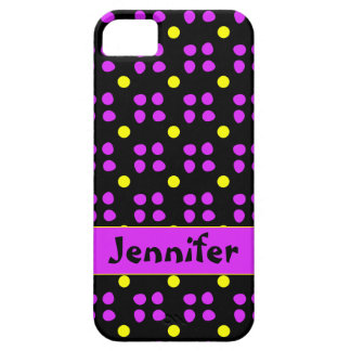 Personalised dotting pattern iPhone 5 covers