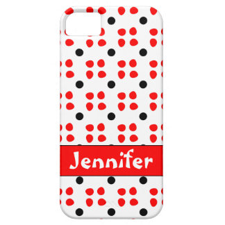 Personalised dotting pattern iPhone 5 cover