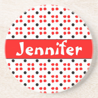 Personalised dotting pattern coaster