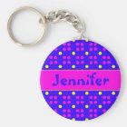 Personalised dotting pattern key ring