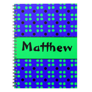 Personalised dotting pattern notebook