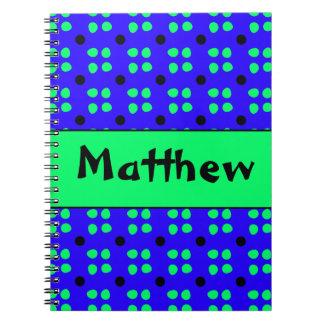 Personalised dotting pattern notebooks