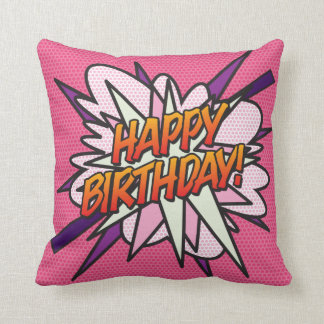 Personalised Double sided HAPPY BIRTHDAY photo Throw Pillow
