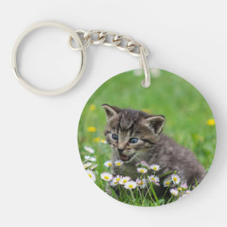 Personalised Double Sided Kitty Cat Pet Keychain