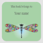 Personalised Dragonfly Sticker Bookplate