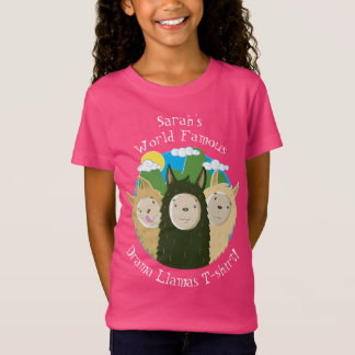 Personalised Drama Llamas T-Shirt