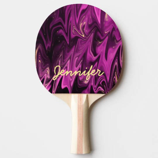 Personalised dramatic dark shades of purple ping pong