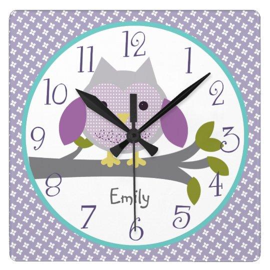 Personalised Dreamland Owl Nursery Clock