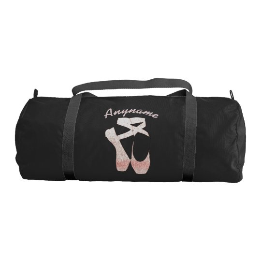 Personalised Duffle Bag Pink Ballet Shoes