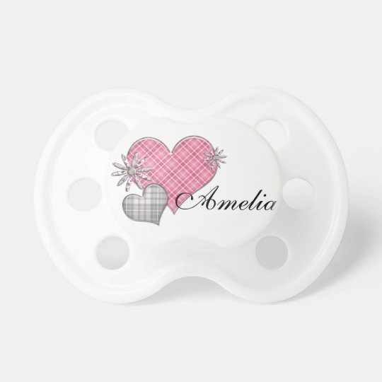 Personalised dummy with hearts n flowers