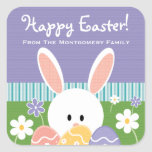 Personalised Easter Bunny Eggs Label Stickers