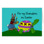 Personalised Easter card with a turtle
