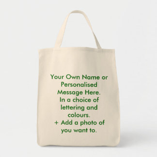 Personalised Eco-Bag. You name it. Grocery Tote Bag