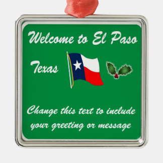 Personalised El Paso TX Christmas Ornament