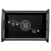 Personalised Elegant Romantic Hearts Garland Tray