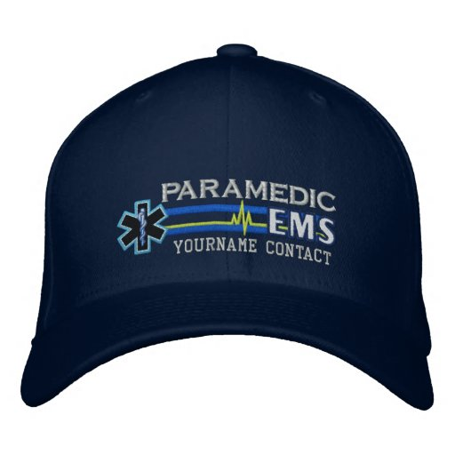 b25e397093d Personalised EMS Paramedic Star of Life Embroidered Hat