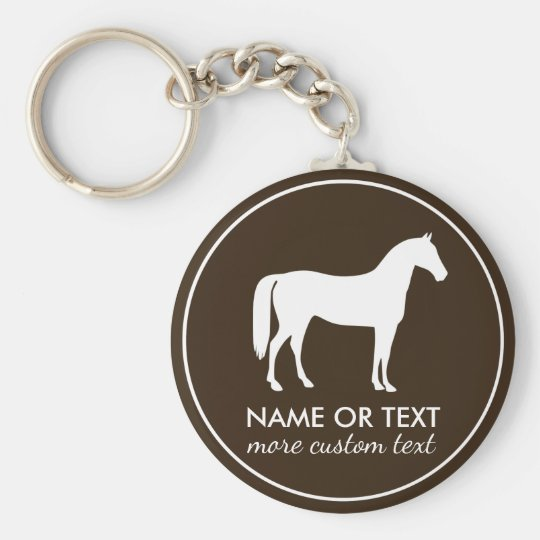 Personalised Equestrian Horseback Riding Name Key Ring