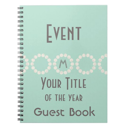Personalised Event of the Year Mint Guest Book