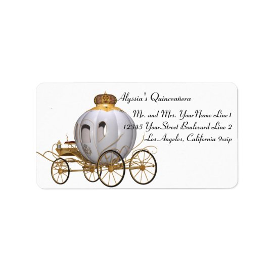 Personalised Fairy Tale Princess Address Label