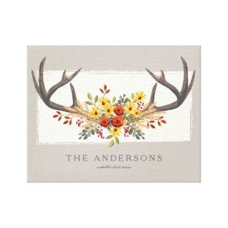 Deer Antler Canvas Print
