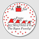 Personalised Family Gift Sticker