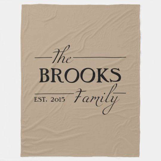 Personalised Family Name Throw Blanket Gift