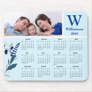 Personalised Family Photo 2018 Calendar Mouse Mat