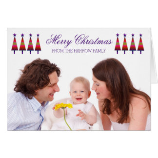 Personalised Family Photo Christmas Card Star Tree
