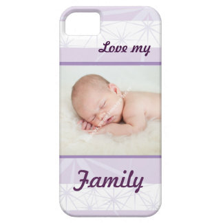 Personalised Family Photo - Love My Family purple iPhone 5 Covers