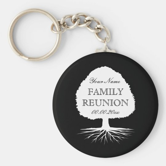 Personalised family reunion party favour keychains