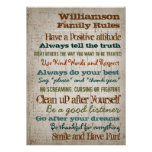 Personalised Family Rules House Sign