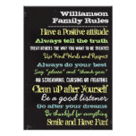 Personalised Family Rules House Sign Poster