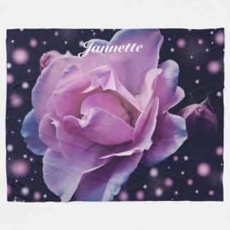 Personalised Fantasy Rose Fleece Blanket