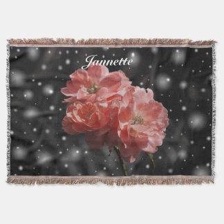 Personalised Fantasy Rose Throw Blanket