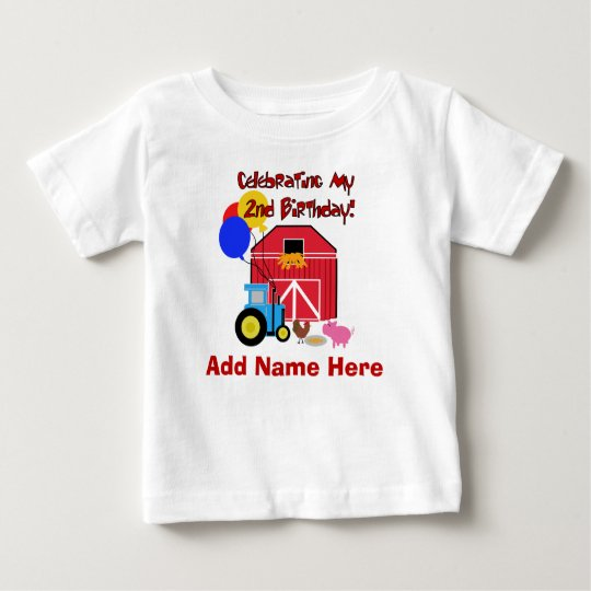 Personalised Farm 2nd Birthday Tshirt