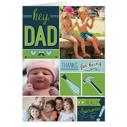 Personalised Fathers Day Card with Photos